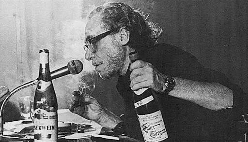 Patron saint No. 2: Charles Bukowski, and his best friends.