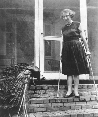 Patron saint No. 3: Flannery O'Connor, right.