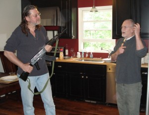 Bat McGrath, right, explains to me during a visit to his Nashville home last summer how an AK-47 could be your last line of defense between your women and a band of wild-eyed hillbillies who are storming up the driveway.
