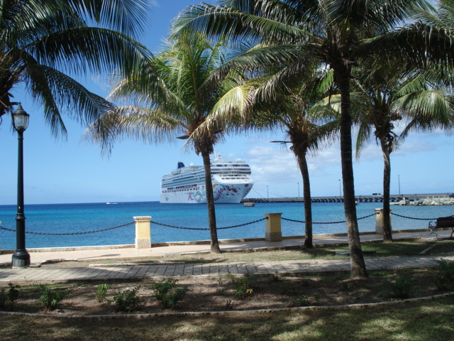 The Norwegian Pearl awaits our return from St. Croix. Photo by Margaret Spevak.