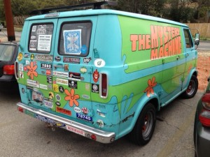 I hope Shaggy and the crew left The Mystery Machine windows rolled down for Scooby.