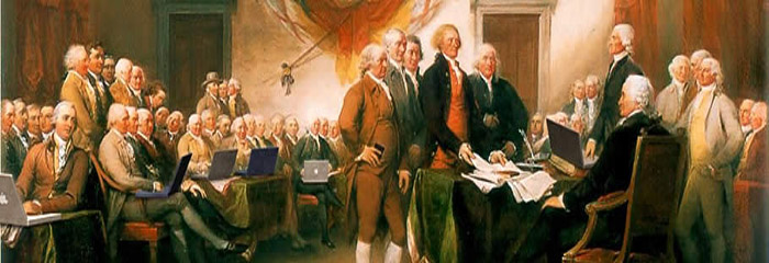 The Founding Fathers not only owned slaves, but were computer illiterate.